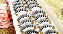 Natural Human Hair False Eyelashes - Different Styles Handmade Eyelashes - 10pairs per box - Combination Postage(China (Mainland))