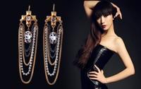 Free Shipping 2013 New Arrival Charm Cross Dangle Tassel   Earring Jewelry  for Women OY1303078 (E119)