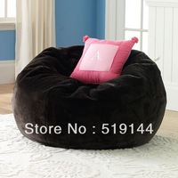 Free shipping oversized bean bags,long fur black beanbag lounger,Soft and stylish UltraFur bean bag