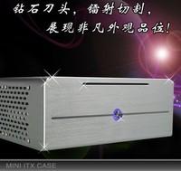 E . new arrival mini training e-i7 aluminum htpc PC case small e350 h61 h67 itx motherboard