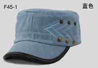Wholesale COOL Buttons PU Edge Flat Army Hats Lady Sports Caps Ladies Visor Military Hat Mens Cap Womens Headwear Seasonless F45