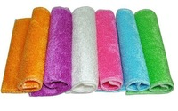 Wholesale 6 pieces / lot  color dish cloth,bamboo fiber washing dish cloth,magic multi-function wipping/cleaning rags