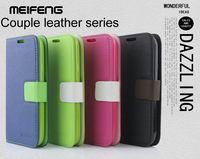 Free shipping,High quality MEIFENG PU leather cover for Samsung galaxy Grand Duos I9080 I9082 case + proector screen, mix color