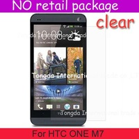 100pcs/lot clear screen protector saver guard For HTC ONE M7,No retail package,high quality,DHL Free