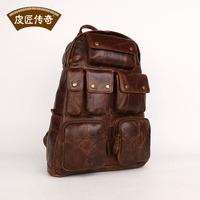 Genuine Leather Fashion travel backpack fashion casual big capacity british style 8068183