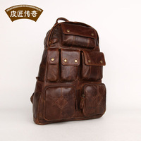 Genuine Leather Fashion travel backpack fashion casual big capacity british style 8068183