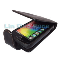 Black Leather Case Cover Pouch + Film For HTC Explorer Pico A310e