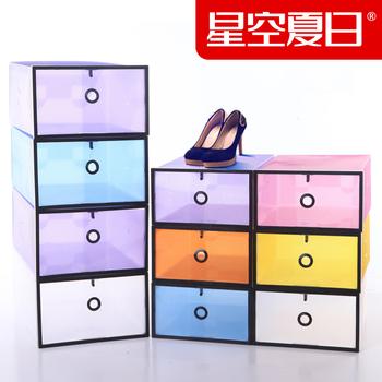 Large transparent shoebox plastic crystal storage shoes box new arrival 5 cabinet