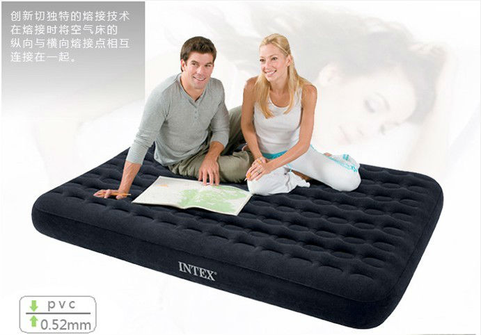 Free shipping by EMS Intex 66724 double luxury honeycomb inflatable mattress air bed inflatable pump size 137x191x23cm(China (Mainland))