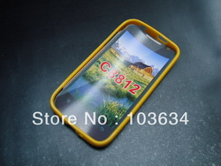 good material tpu mobile phone case for Huawei C8812 free shipping and cheep fee(China (Mainland))