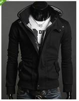 NWT Men's Slim Top Designed Sexy Hoody Jacket Coat E211 2color 3 size