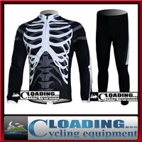 2013 HOT autumn cool skeleton man's full sleeve cycling jersey&pants/Lycra quick dry&ventilate bike S,M,L,XL,XXL,XXXL