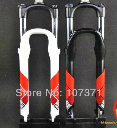 New ROCK SHOX XC28 TK alloy mountain bike fork suspension bicycle fork black/white color EMS free shipping(China (Mainland))