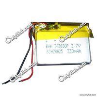 3.7V 330mAh BAK 363830P 363830 8JHZ8C09 3.6x38x30mm (HxWxL) Lipo  Lithium Polymer Rechargeable Battery