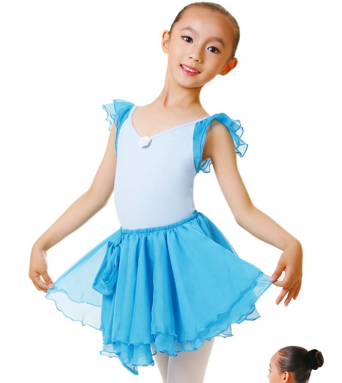 A sports child clothes dance ballet one piece dress tulle hot-selling leotard(China (Mainland))