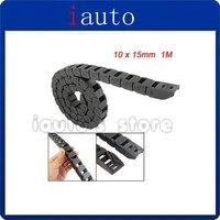 1M Long Black Plastic Towline Cable Drag Chain 10 x 15mm