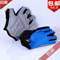 Cbr mountain bike ride gloves silica gel semi-finger fitness pack package last package outdoor red