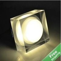 3W LED Crystal Ceiling Light + Decorative LED Lamp + LED Indoor Light+110-240V+6pcs/Lot+Free shipping