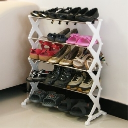 Japanese style simple diy stainless steel five layer shoe hanger 35 combination of shoe shoes finishing frame storage