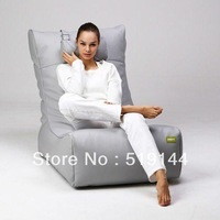 Free shipping lazy beanbag chair,grey outdoor bean bag sofa recliner, waterproof relaxing bean bags without pillow