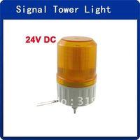 DC 24V Industrial Yellow LED Signal Rotating Light Warning Stack Lamp
