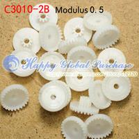 50pcs/lot 30T Module 0.5 plastic crown teeth, right-angle turn to C3010-2B free shipping