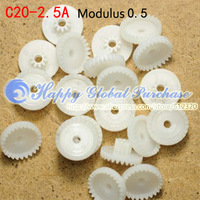 50pcs/lot 20T Module 0.5 plastic crown teeth, right-angle turn to C20-2.5A free shipping