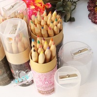 Log 12 bringing 24 mini colored pencil cartoon color pencil sharpener