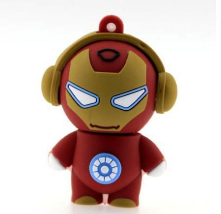 FREE SHIPPING Best Gift Iron Man 4GB 8GB 16GB 32GB Cartoon USB Flash Drive 10pcs/lot(China (Mainland))