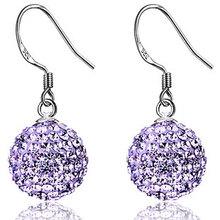 Sparkling czech diamond s925 pure silver earrings crystal earrings silver marriage