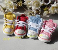 Free shipping Jml pet shoes dog shoes gauze shoes sport shoes non-slip shoes teddy bear chigoes gold