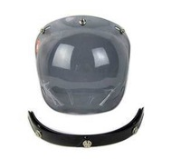 3 Snap Smoke Len Visor shield for 3/4 motorcycle Bobber helmet