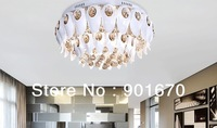 Free shipping high quality modern luxual crystal ceiling lamp residential living room lighting wholesale dia 55cm
