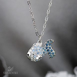 HOT!! Blue ocean fairy small fish crystal necklace symphony gradient crystal exquisite jewelry accessories FREE SHIPPING
