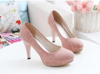 Free shipping !Wholesale! The new 2013 artificial PU round head/Women high heels for Women's shoes-wj -01