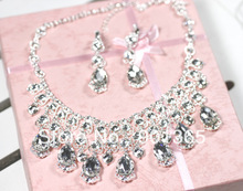 Bridal accessories marriage wedding set the bride accessories necklace earring set 0288