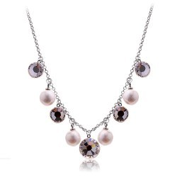 Star necklace production fashion elegant pearl manufacturers crystal Women necklace - 4319(China (Mainland))