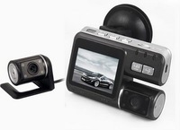 FREE SHIPPING HD 720P Dual Lens Dashboard Car vehicle Camera Video Recorder DVR CAM G-sensor 5 2