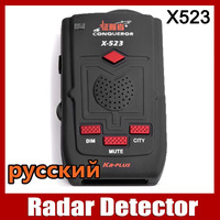 Original Conqueror x523 Super Advanced Car Radar Detector English Russian voice update of x323 KA-PLUS and super signal x-523