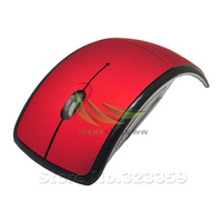 Red Wireless USB 2.4 GHz Folding Arc Mouse Mice Computer Laptop Macbook