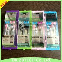 "Wallytech Free shipping Super Bass 10PC/LOT For MP3 ipod Touch IPad shuffle Fashionable ""L"" In-Ear earphone headphone MP3"