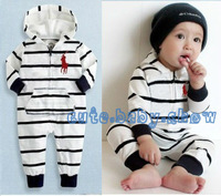 2013 New Arrival! Baby long sleeve striped jumpsuit baby Boys & Girls  toddler rompers. Free Shipping!