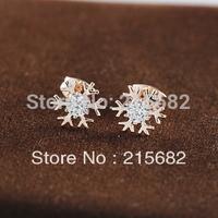 new Trial sell snowflake earrings female inserts Nina simulation of high-grade diamond earrings OL fashion earrings kedol-E96