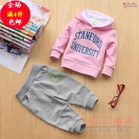 Children's clothing spring and autumn 2013 child clothes baby child female male child sports set sweatshirt set