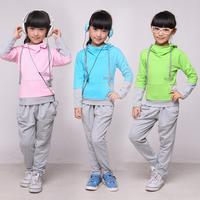 Children's clothing female child spring 2013 set spring and autumn child women's child clothes sportswear set