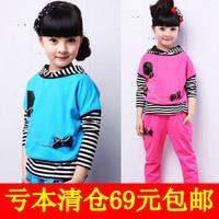 Children's clothing female child spring 2013 child sportswear set piece set spring and autumn kids clothes