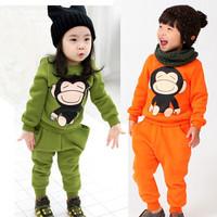Male female child child baby 2013 spring children's clothing 100% cotton clothes t-shirt sweatshirt sports set