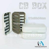 High Qulity Waterproof 4 Foam Insert Swingleaf Fly Fishing Box of easy grip foam