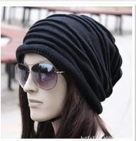 1pcs,Korean version of popular folding cap,Winter hat,Fashionable men and women knitting wool cap,5color,Free shipping