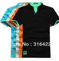 Short sleeve polo-shirt Brand polo shirt cotton T-shirt for men Free shipping printing men's t-shirt,Cool summer DX0012
